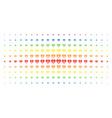 diamond spectrum halftone grid vector image vector image