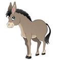 donkey theme image 1 vector image