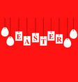 easter card with signboard with letters vector image vector image