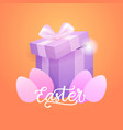 easter holiday background greeting card decoration vector image vector image