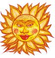 fat old sun vector image vector image