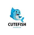 fish thumb up mascot character logo icon vector image vector image