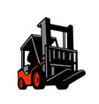 forklift truck low angle retro vector image vector image