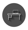 furniture table with laptop computer icon table vector image vector image
