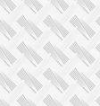Geometrical pattern with white striped lattice vector image