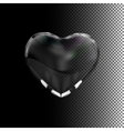 Glass transparent heart vector image