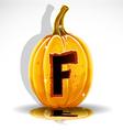 Halloween Pumpkin F vector image vector image