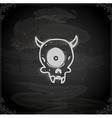 Hand Drawn Cyclops Skull vector image vector image