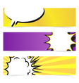 hand drawn pop art banner with speech bubble vector image vector image