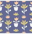 hand drawn seamless pattern with plants vector image