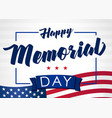 happy memorial day 25 may light banner vector image