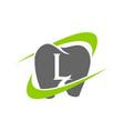 healthy dental care letter l vector image