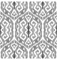 ikat seamless pattern in damask style vector image