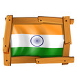 india flag in wooden frame vector image vector image