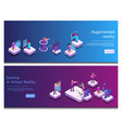 isometric online communicating virtual gaming vector image vector image