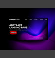 landing page template design vector image vector image
