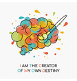 life motivation quote concept of human brain vector image vector image