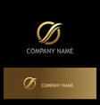 loop wave round gold company logo vector image vector image