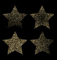 luxury golden stars on black gold glittering vector image vector image