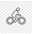 man on motorbike concept linear icon isolated on vector image