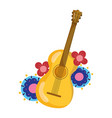 mexican independence day musical guitar vector image vector image