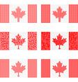 Mosaic Canada flag set vector image vector image