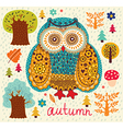 Owl Forest vector image vector image