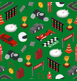 racing sport seamless pattern background isometric vector image vector image