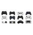 realistic gamepads play console and pc games and vector image vector image