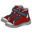 red childrens sneakers vector image vector image