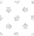 school diploma pattern seamless vector image vector image