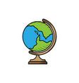 school globe hand drawn icon isolated vector image