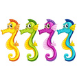Sea horses vector image