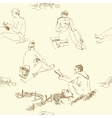 Seaml Women on beach-05 vector image vector image