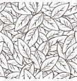 seamless abstract background with leaves in black vector image vector image