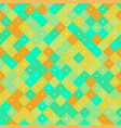 seamless pattern with yellow and turquoise pixel vector image vector image