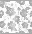 seamless silwer pattern with flowers vector image vector image