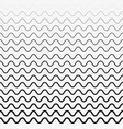 seamless wave lines pattern halftone vector image vector image