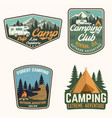 set summer camp badges concept vector image vector image
