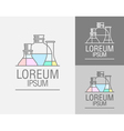 sign template Set cans flasks vector image