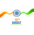 stylish 15th august indian independence day vector image vector image