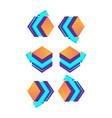such 3d cubes purple with arrow logo design vector image vector image