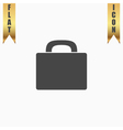 Suitcase flat icon vector image vector image
