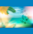 summer sea with island and palm trees vector image vector image