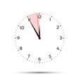 time is money concept in five minutes twelve vector image