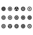 tire icons set vector image vector image
