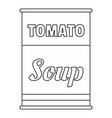 tomato soup can icon outline style vector image