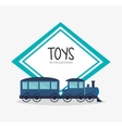Train toy and game design vector image vector image