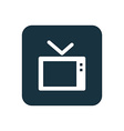 tv icon Rounded squares button vector image vector image