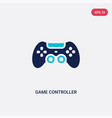 two color game controller icon from electronic vector image vector image